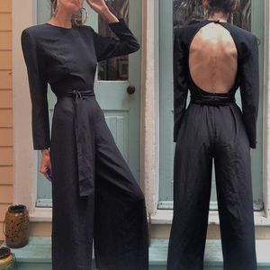 Vintage backless jumpsuit